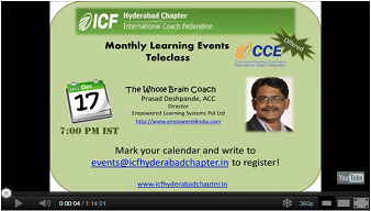 The Whole Brain Coach - Prasad Deshpande, ACC, 17th December 2011