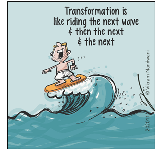 riding through the waves of transformation